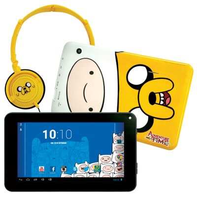 Tablet Android 4.2 Adventure Time com Headphone - Tela 7 Multi-Touch e 8GB - Candide