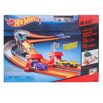 Pista-3-em-1-Hot-Wheels---Turbo-Race---Mattel