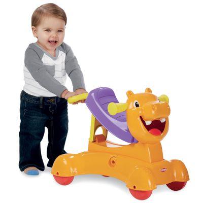 Andador 3 em 1 Com Sons - Hipopótamo Playskool - Hasbro