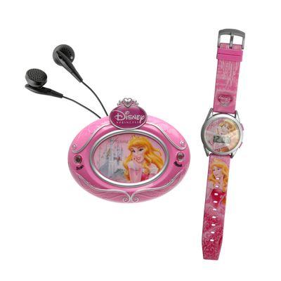 Kit Princesas Disney Relógio Digital e Rádio FM - Aurora - Candide