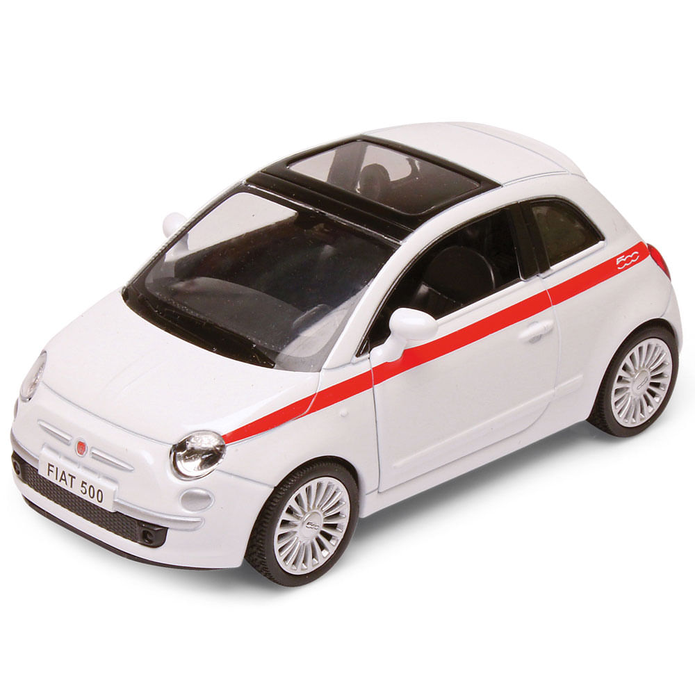 Carrinho Super Marcas - Fiat 500 Branco - DTC