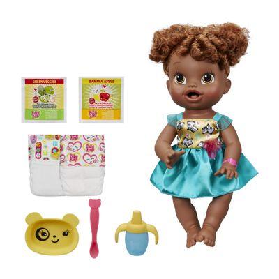 Boneca Baby Alive Negra - Hora de Comer - Hasbro