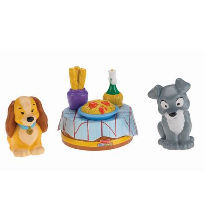 Bonecas-Little-People---Momentos-Magicos-Disney---A-Dama-e-o-Vagabundo---Fisher-Price