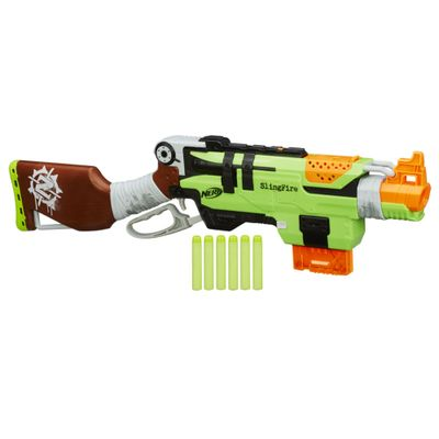 Lançador Nerf Zombie Strike - Slingfire - Hasbro