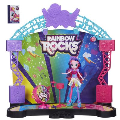 Playset com Boneca My Little Pony - Palco Pop Equestria Girls Rainbow Rocks - Hasbro