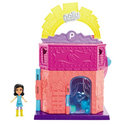 Playset-Polly-Pocket---Predio-Luxo-Pollyville---Parque-de-Diversoes---Mattel