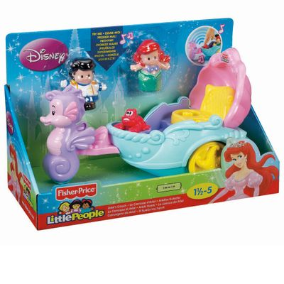 Playset-Little-People-Disney---Veiculo-da-Princesa---Ariel---Fisher-Price