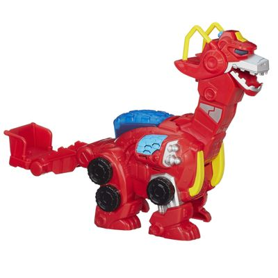 Boneco Transformers Rescue Bots - Heatwave The Rescue Dinobot - Hasbro