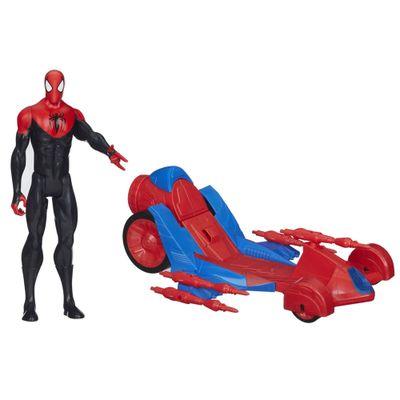 Figura Titan Hero com Veículo - Ultimate Spider-Man - Spider-Man com Turbo Racer - Hasbro - Disney
