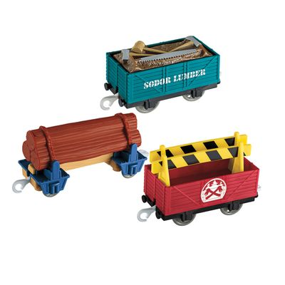 Vagoes-Trackmaster-2---Thomas---Friends---Lumber-Delivery---Fisher-Price
