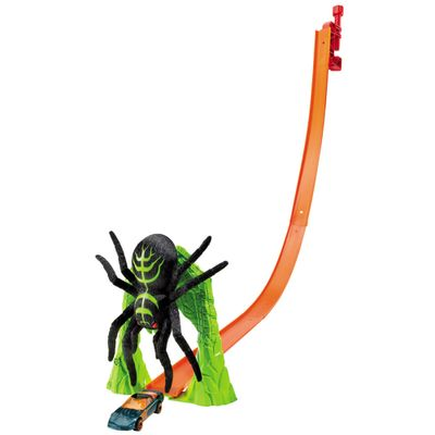 Pista Hot Wheels Radical - Spider Slam - Mattel - Disney