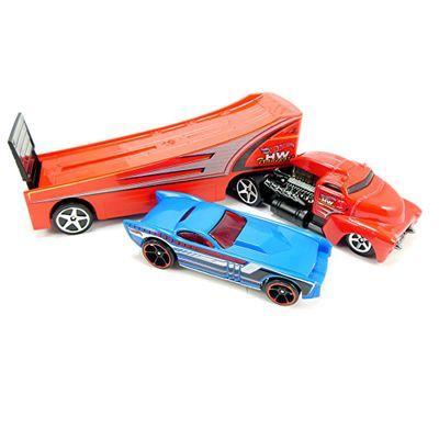 Caminhão Transportador Hot Wheels - Rock'N Race Vermelho - Mattel