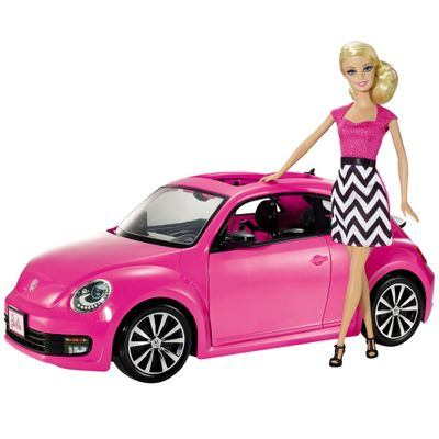 Boneca Barbie Real com Beetle Volkswagen - Mattel
