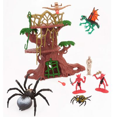 Playset-Legend-Of-Dragon---Armadilha-da-Aranha---New-Toys