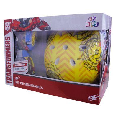 Kit-Capacete-e-Acessorios-Optimus-Prime-Azul-e-Amarelo---Transformers---Conthey