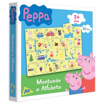 Quebra-Cabeca-Montando-o-Alfabeto---Peppa-Pig---26-Pecas---Toyster