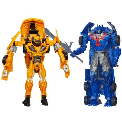 Kit-Bonecos-Transformers-4-Smash-and-Change-Optimus-Prime-Flip-and-Change-Bumblebee-Hasbro