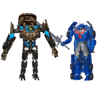 Kit-Bonecos-Transformers-4-Smash-and-Flip-Optimus-Prime-Flip-and-Change-Lockdown