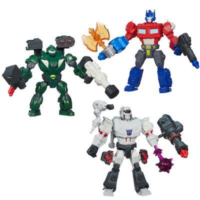 Kit-Bonecos-Transformers-Hero-Mashers-Optimus-Prime-Megatron-Bulkhead-Hasbro