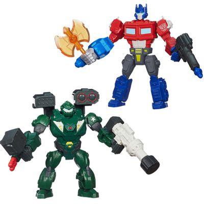 Kit-Bonecos-Transformers-Hero-Mashers-Optimus-Prime-Bulkhead-Hasbro