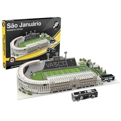 Quebra Cabeça 3d Estádio de São Januário Vasco + Fascículo 167 Peças Nanostad
