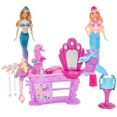 Kit-Barbie-Sereia-da-Perolas-Salao-de-Beleza-Amiga-Sereia-Azul
