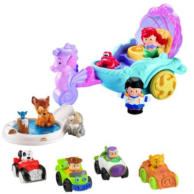 kit-little-people-veiculo-da-princesa-ariel-momentos-magicos-bambi-conjunto-figuras-wheelies