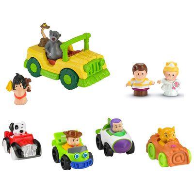 kit-conjunto-figuras-wheelies-bonecas-principe-encantado-e-cinderela-veiculo-mogli-o-menino-lobo-little-people