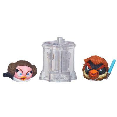 Telepods Angry Birds Star Wars - Princesa Leia e Obi-Wan Kenobi - Hasbro