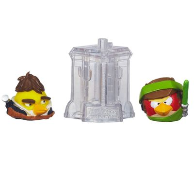 Telepods Angry Birds Star Wars - Luke Skywalker Endor e Han Solo - Hasbro