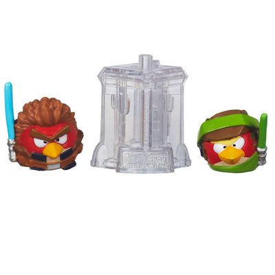 Telepods Angry Birds Star Wars - Luke Skywalker Endor e Anakin Padawan - Hasbro