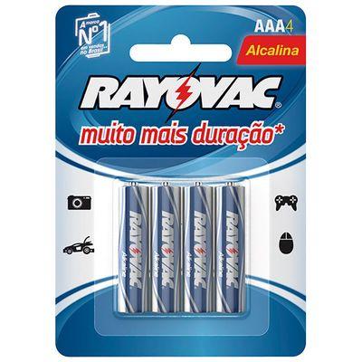 Pilha Alcalina Rayovac AAA (LR03 - Palito) - Cartela com 4 unidades
