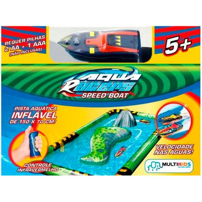 Lancha e Pista - Aqua Racers - Multikids