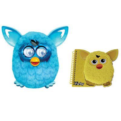 Kit-Pelucia-Interativa---Furby-Boom-Azul-Favorito---Hasbro---Caderno-com-Espiral-Medio-Amarelo