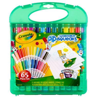Maleta Canetinhas Laváveis - Pip-Squeaks Washable -  25 Cores - Crayola - Maleta Canetinhas Laváveis - Pip-Squeaks Washable - 25 Cores - Crayola