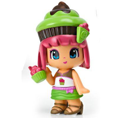 Mini-Boneca-Pinypon---Cupcake-Marrom-e-Verde---Multikids