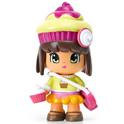 Mini-Boneca-Pinypon---Cupcake-Roxo-e-Bege---Multikids