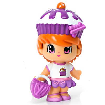 Mini-Boneca-Pinypon---Cupcake-Roxo---Multikids