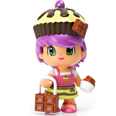 Mini-Boneca-Pinypon---Cupcake-Marrom-e-Bege---Multikids