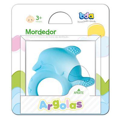 Mordedor Argola Golfinho Azul - Toyster