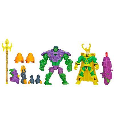 Bonecos-Marvel---Super-Hero-Mashers---Hulk-Vs-Loki---Hasbro