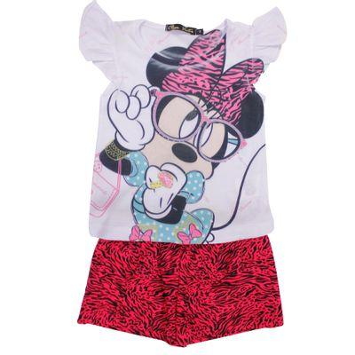500510-Conjunto-Minnie---Blusa-e-Short-Branco-e-Rosa---Disney-Conjunto