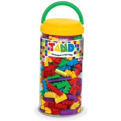 Pote com Blocos de Montar Tand Kids - 300 Peças - Toyster