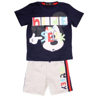 500517-Conjunto-Mickey---Blusa-com-Short-Marinho-e-Mesclado---Disney-Conjunto