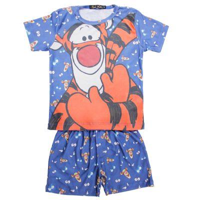 500522-Pijama-Tigao---Blusa-e-Short-Poliester-Azul---Disney-Conjunto