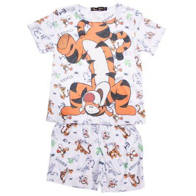 500523-Pijama-Tigrao---Blusa-e-Short-Poliester-Branco---Disney-Conjunto