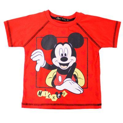 500514-Camiseta-Mickey---Algodao-Vermelho---Disney