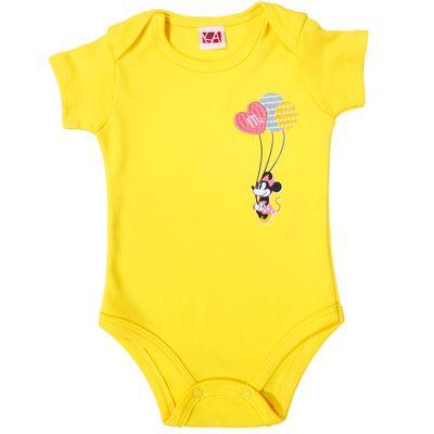 21446-Body-Minnie---Suedine-Amarelo---Disney