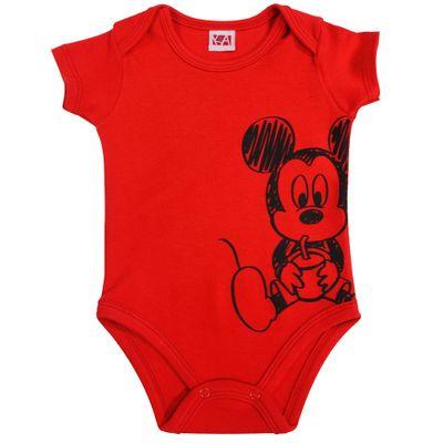 21474-Body-Mickey---Suedine-Vermelho---Disney