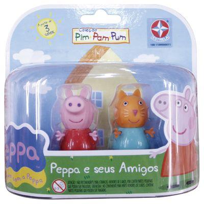 Figuras-Colecionaveis-Peppa-Pig-e-seus-Amigos---Peppa-e-Candy-Cat---Estrela